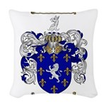 Poole Family Crest Woven Throw Pillow