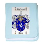 Poole Family Crest baby blanket