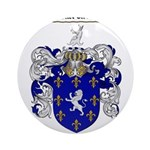 Poole Family Crest Ornament (Round)