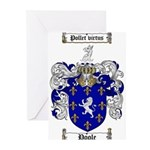 Poole Family Crest Greeting Cards (Pk of 10)