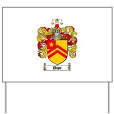 Pope Family Crest Yard Sign