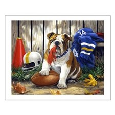home bulldog gifts Small Poster