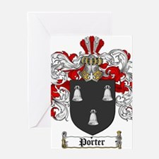 Porter Family Crest Greeting Card