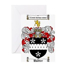 Potter Family Crest Greeting Card