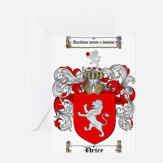 Price Coat of Arms Greeting Card