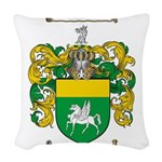Quinn Family Crest Woven Throw Pillow