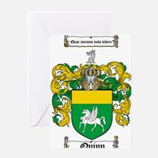 Quinn Family Crest Greeting Card