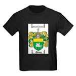 Quinn Family Crest Kids Dark T-Shirt