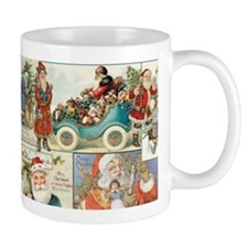 Victorian Old World Santas Coffee Small Mugs