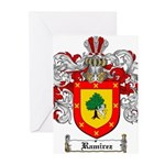 Ramirez Family Crest Greeting Cards (Pk of 20)