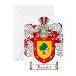 Ramirez Family Crest Greeting Cards (Pk of 10)