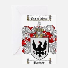 Ramsey Family Crest Greeting Card