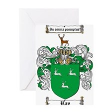 Ray Family Crest Greeting Card