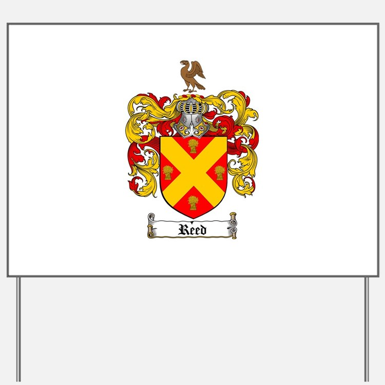 Reed Family Crest Yard Sign