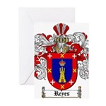 Reyes Coat of Arms Greeting Cards (Pk of 20)