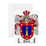 Reyes Coat of Arms Greeting Card