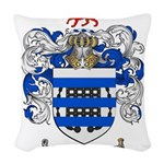 Reynolds Coat of Arms Woven Throw Pillow
