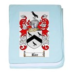 Rice Coat of Arms baby blanket