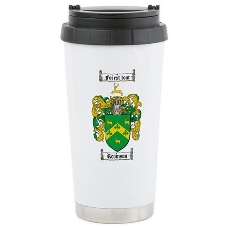 Robinson Coat of Arms Stainless Steel Travel Mug