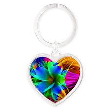 Fractal Extravaganza Heart Keychain