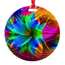 Fractal Extravaganza Round Ornament