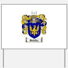 Sanchez Coat of Arms Yard Sign