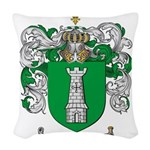 Salazar Coat of Arms Woven Throw Pillow