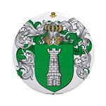 Salazar Coat of Arms Ornament (Round)
