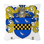 Sawyer Coat of Arms Woven Throw Pillow
