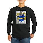 Sawyer Coat of Arms Long Sleeve Dark T-Shirt