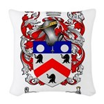 Saunders Coat of Arms Woven Throw Pillow