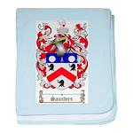Saunders Coat of Arms baby blanket