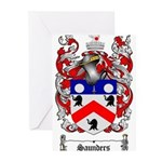 Saunders Coat of Arms Greeting Cards (Pk of 10)