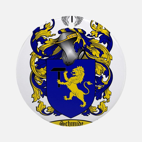 Schmidt Coat of Arms Ornament (Round)