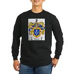 Sharp Coat of Arms Long Sleeve Dark T-Shirt