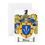 Sharp Coat of Arms Greeting Cards (Pk of 10)