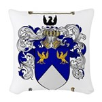 Stevens Coat of Arms Woven Throw Pillow