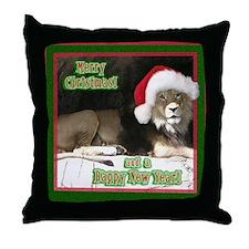 Helaine's Lion Xmas Throw Pillow