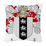Taylor Coat of Arms Woven Throw Pillow