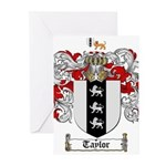 Taylor Coat of Arms Greeting Cards (Pk of 10)