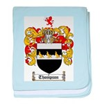 Thompson Coat of Arms baby blanket