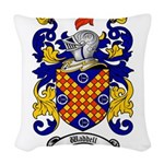 Waddell Coat of Arms Woven Throw Pillow