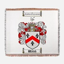Walsh Coat of Arms Woven Blanket