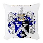 Walton Coat of Arms Woven Throw Pillow