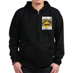 Weaver Coat of Arms Zip Hoodie (dark)