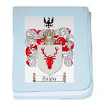 Ziegler Coat of Arms Crest baby blanket