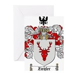 Ziegler Coat of Arms Crest Greeting Cards (Pk of 2