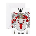 Ziegler Coat of Arms Crest Greeting Card