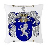 jones coat of arms Woven Throw Pillow