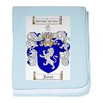 jones coat of arms baby blanket